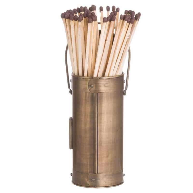 antique matchstick holder side