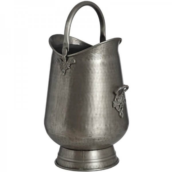 antique pewter coal bucket