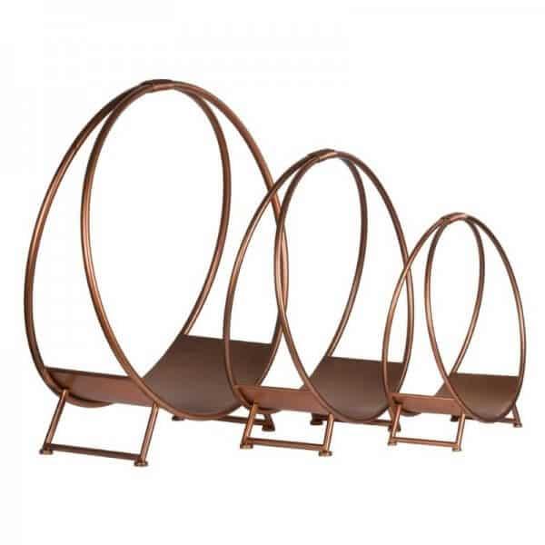 copper log holders