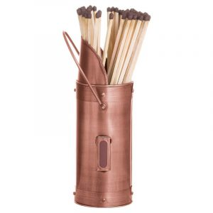copper matchstick holder