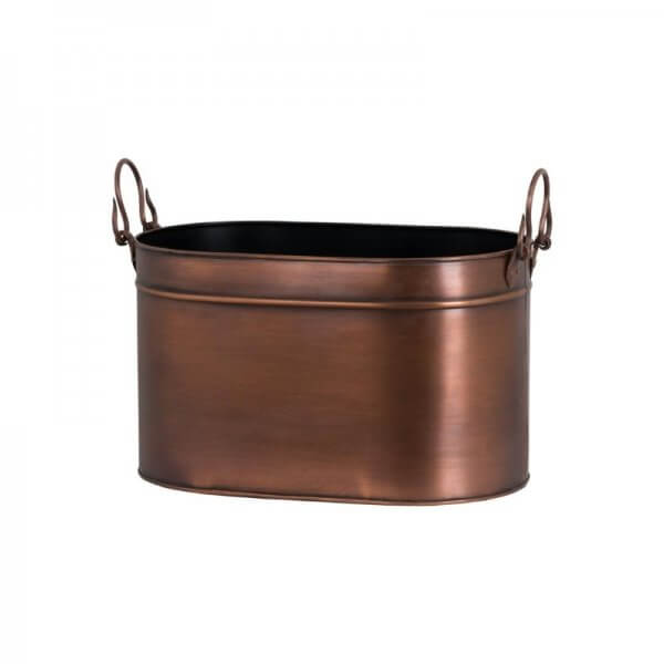 large copper log bucket
