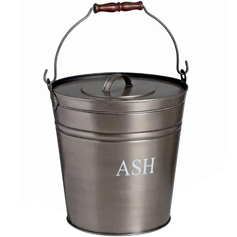 pewter ash bucket