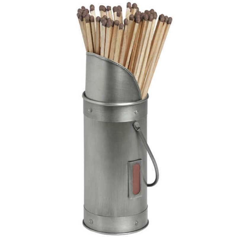 pewter matchstick holder