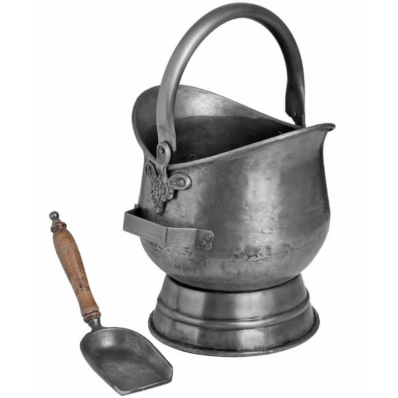 Pewter Coal Bucket with Shovel 2