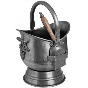 Pewter Coal Bucket with Shovel