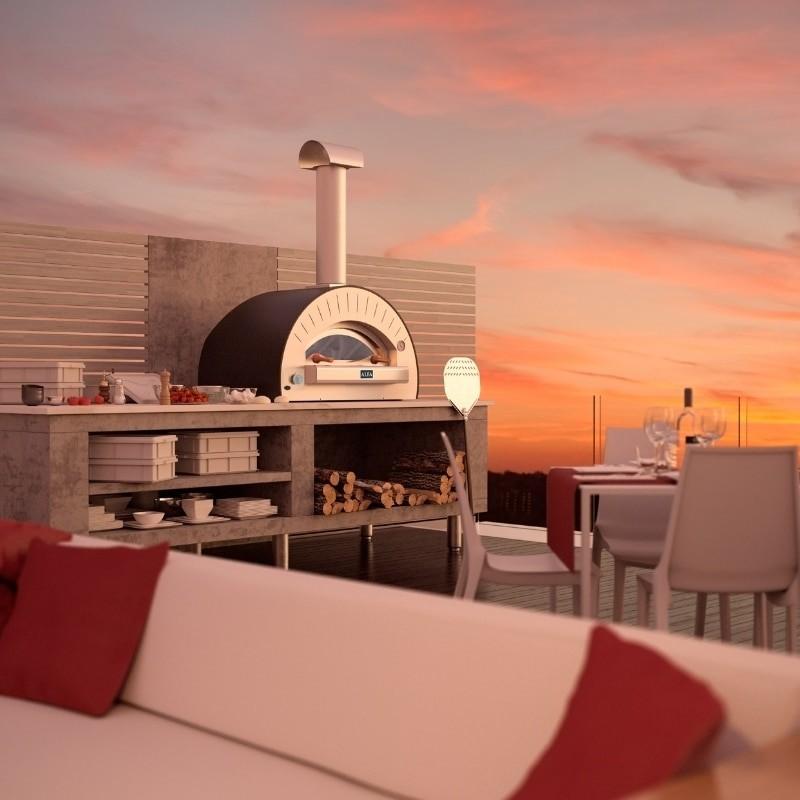 dolce vita oven at sunset