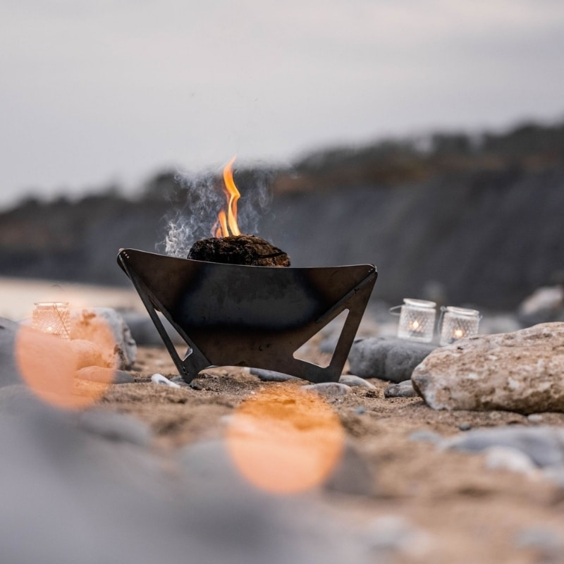 delta fire pit on beach